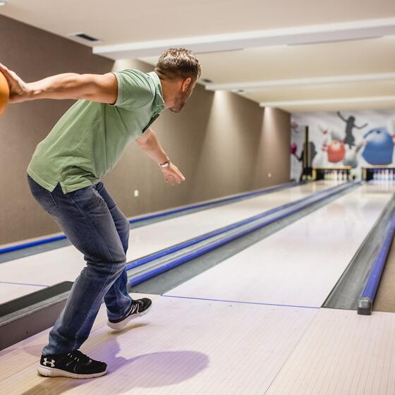 bowling alley at the hotel seehof