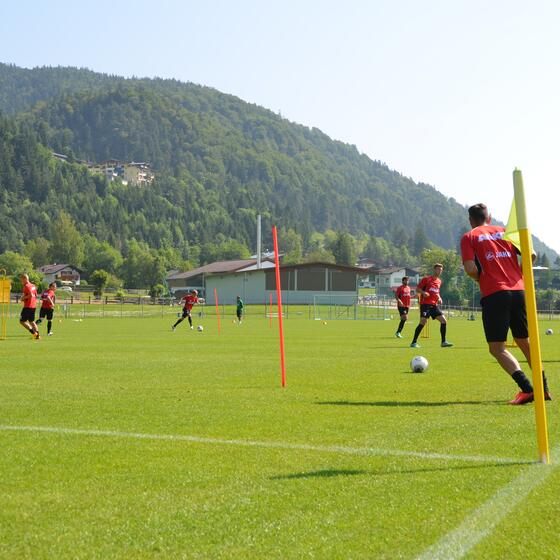 fc augsburg soccer team training camp