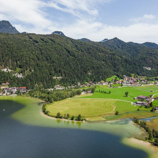 lake walchsee summer