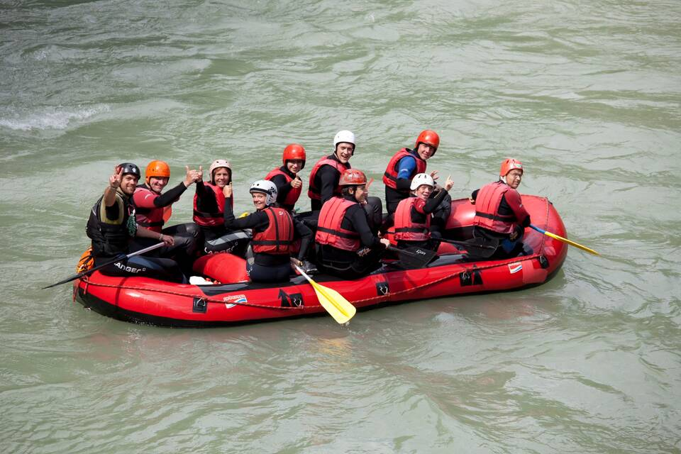holiday in walchsee rafting